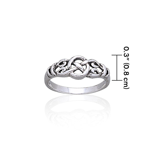 Celtic Knotwork Sterling Silver Ring TR1768