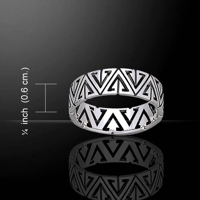 Triangles Silver Ring TR1848