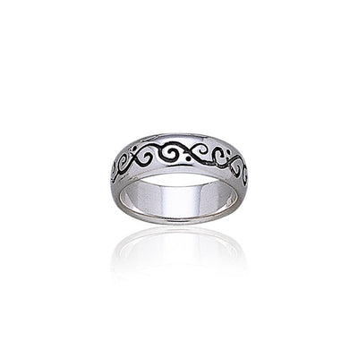 Fairy Vines Silver Band Ring TR1866