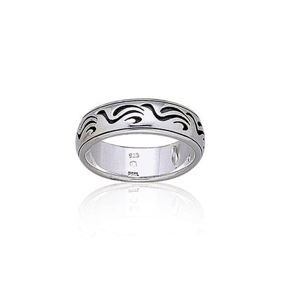 Wave Design Silver Ring TR1893