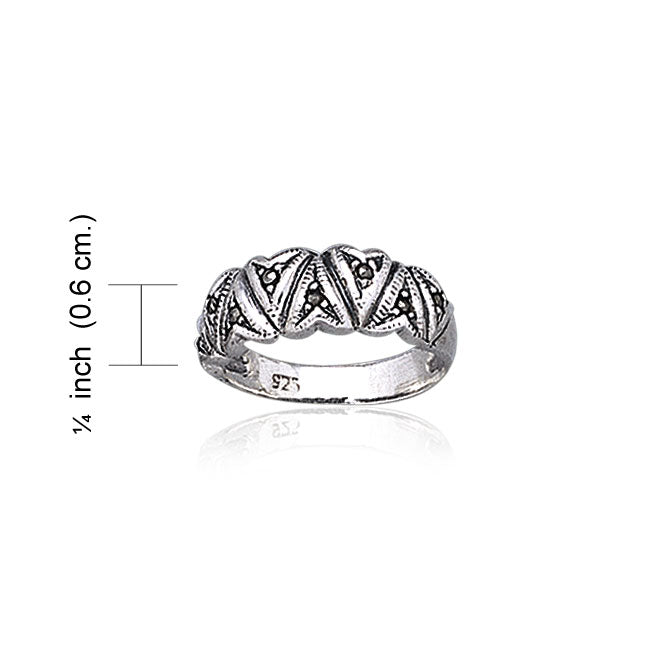 Marcasite Silver Ring TR1912