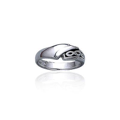 Contemporary Celtic Knotwork Sterling Silver Ring TR1962
