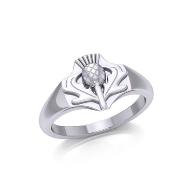 Look for you inner strength ~ Scottish Thistle Sterling Silver Ring TR1963 Ring