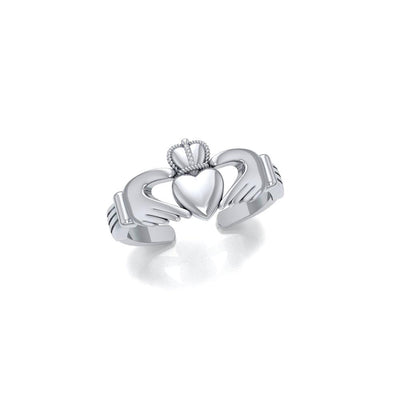 Irish Claddagh Silver Toe Ring TR226