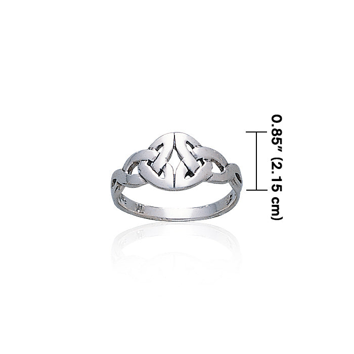 Triquetra Sterling Silver Ring TR231