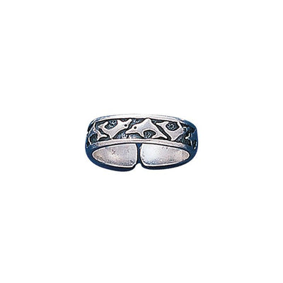 Silver Dolphin Toe Ring TR235