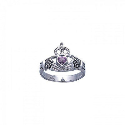 Irish Claddagh Marcasite Ring TR2766