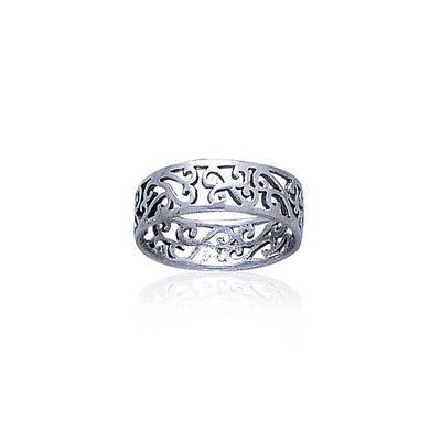 Celtic Silver Spiral Ring TR283