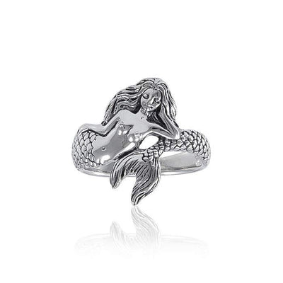 White Mermaid Sterling Silver Ring TR3356 Ring
