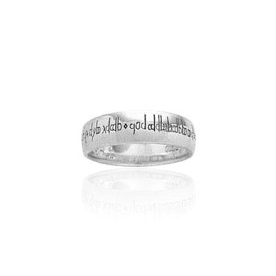 Empower Word Silver Ring TR3360