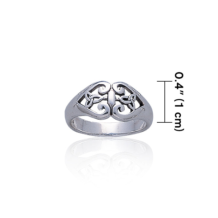 Celtic Knotwork Sterling Silver Ring TR3402