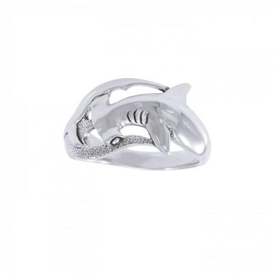 Hammerhead Shark Sterling Silver Ring TR3409 Ring
