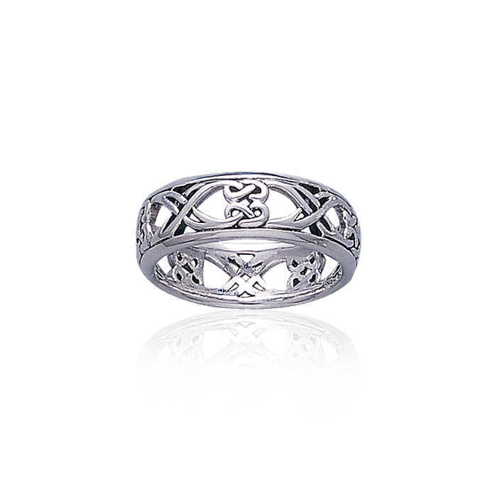 Celtic Knotwork Sterling Silver Ring TR3454