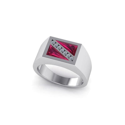 Exclusive Dive Flag Sterling Silver Ring TR3510