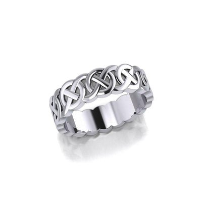 Celtic Knotwork Silver Wedding Ring TR355