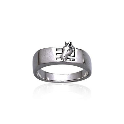 Horse Stables Silver Ring TR3569 Ring