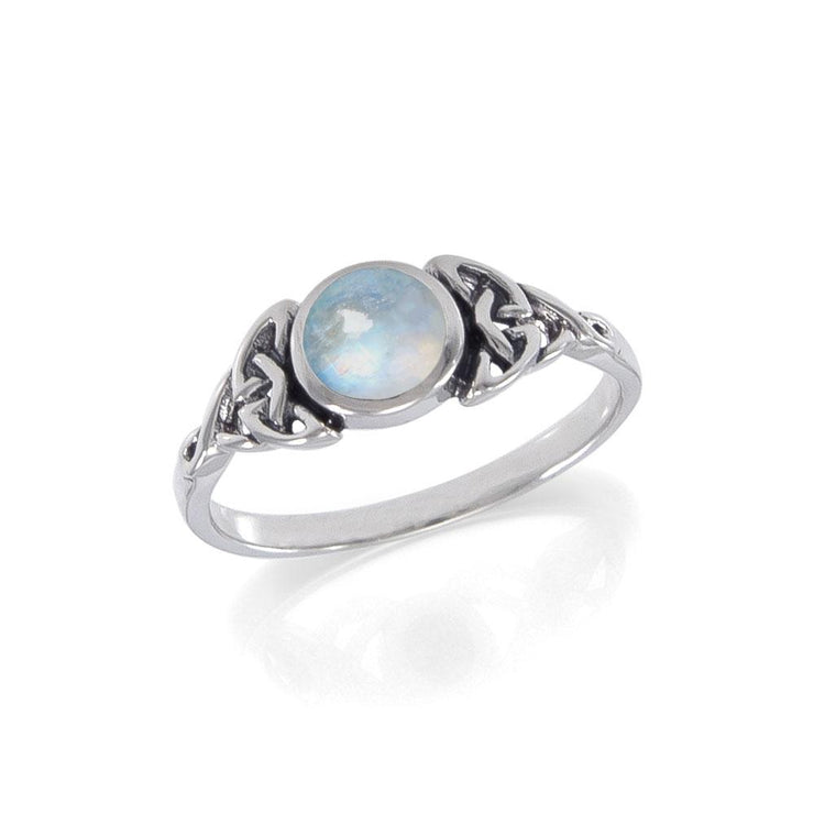 Celtic Knotwork and Gem Silver Ring TR3576 Ring