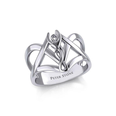 Sexual Goddess Silver Ring TR3617