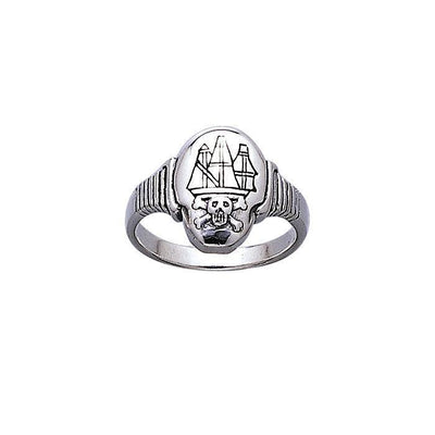 Pirate Ship Jolly Roger Ring TR3662