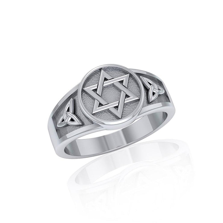 Star of David with Celtic Ring TR3691