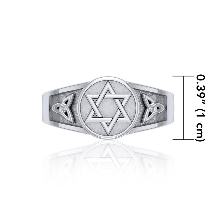 Star of David with Celtic Ring TR3691 Ring