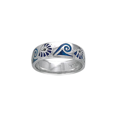 Nautilus and Waves Ring TR3698
