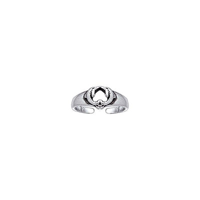 Kissing Dolphins Silver Toe Ring TR3717