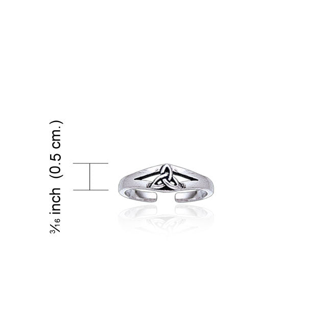 Celtic Triquetra Knot Sterling Silver Toe Ring TR3719