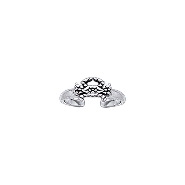 Silver Crab Toe Ring TR3722