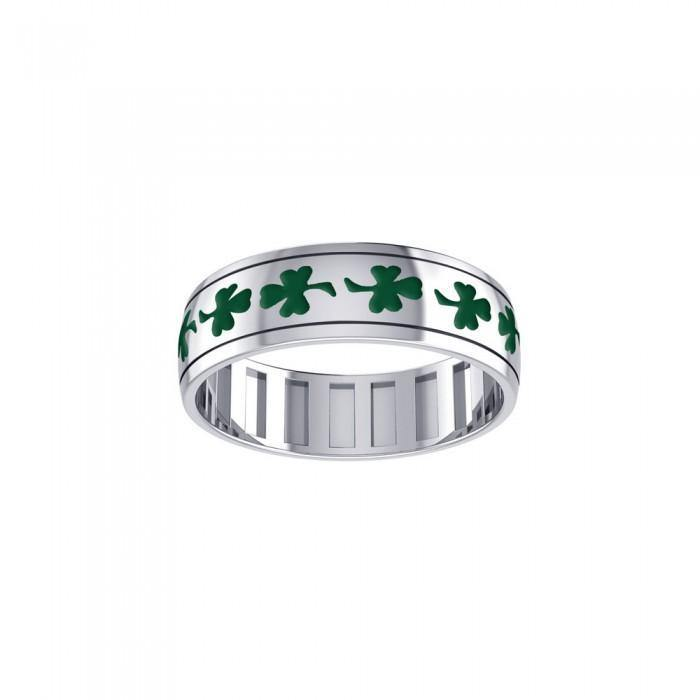 Celtic Shamrock Spinner Ring TR3751