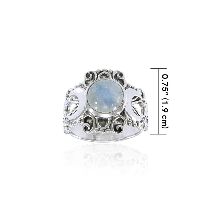 Blue Moon Silver Ring TR3785 Ring