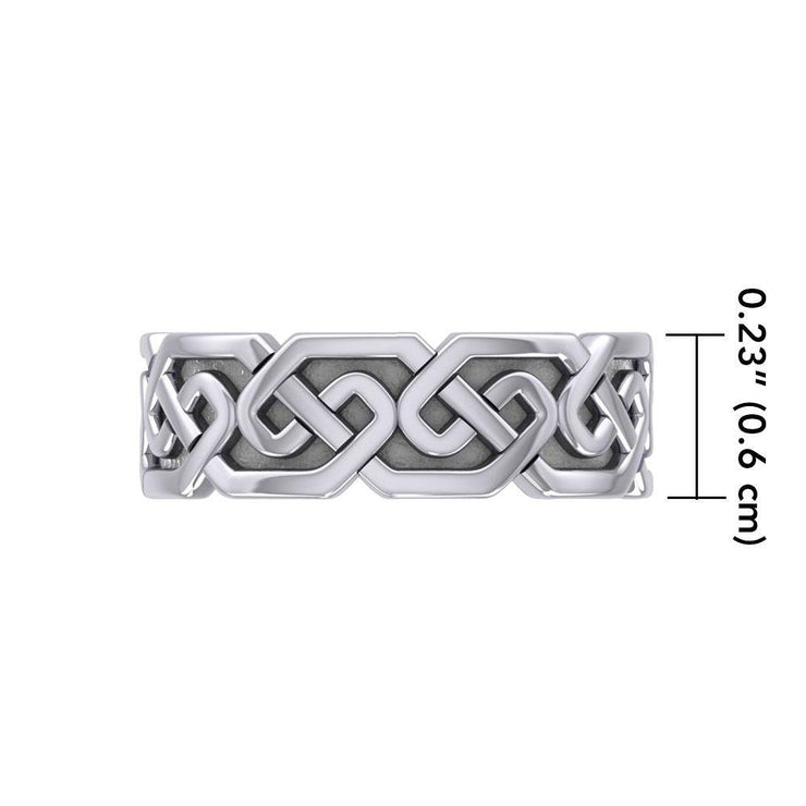 A timeless expression  ~ Sterling Silver Celtic Knotwork Ring TR380 Ring