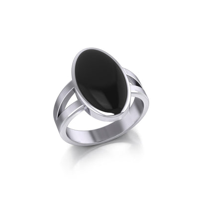 Large Oval Inlaid Stone Ring TR3856