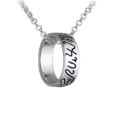 Inscribed Witches Ring and Chain Set TR3867