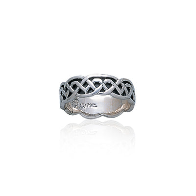 Celtic Knotwork Silver Ring TR393 Ring