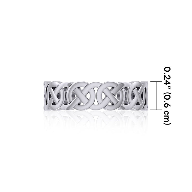 Celtic Knotwork Sterling Silver Ring TR396 Ring