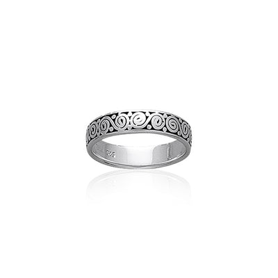 Celtic Silver Spiral Ring TR444