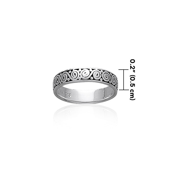 Celtic Silver Spiral Ring TR444 Ring