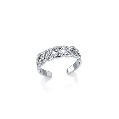Celtic Knotwork Silver Toe Ring TR605