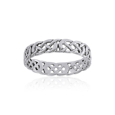 Celtic Knotwork Sterling Silver Ring TR619