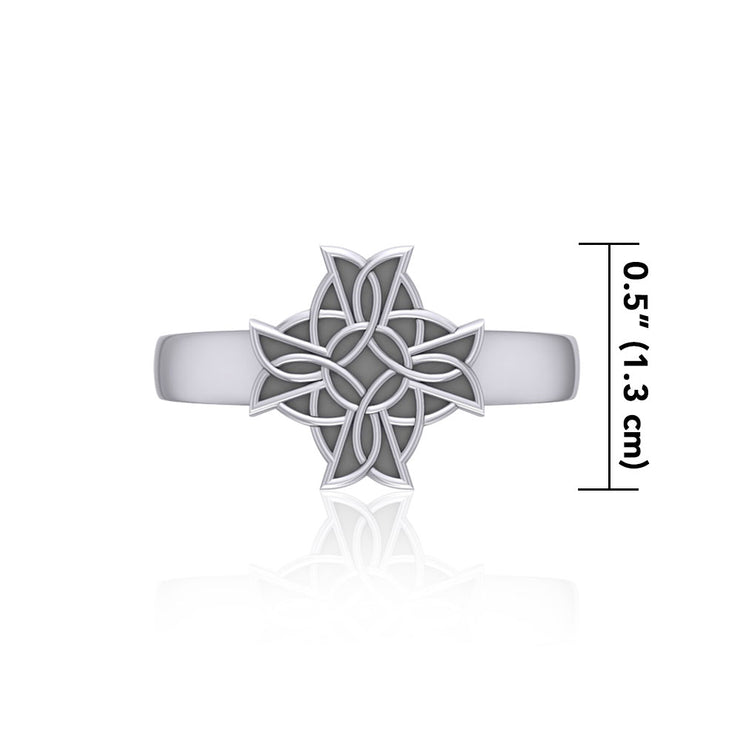 TR620 Celtic Knot Cross Ring