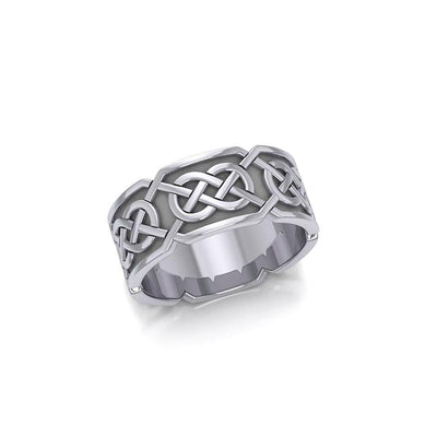 An immeasurable faith ~ Sterling Silver Celtic Knotwork Ring TR623