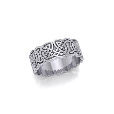 To love and behold for a lifetime ~ Celtic Knotwork Sterling Silver Wedding Ring TR660