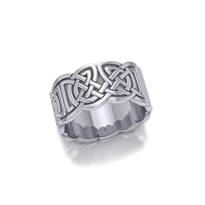 In myriad continuous symbolism ~ Celtic Knotwork Sterling Silver Ring TR661