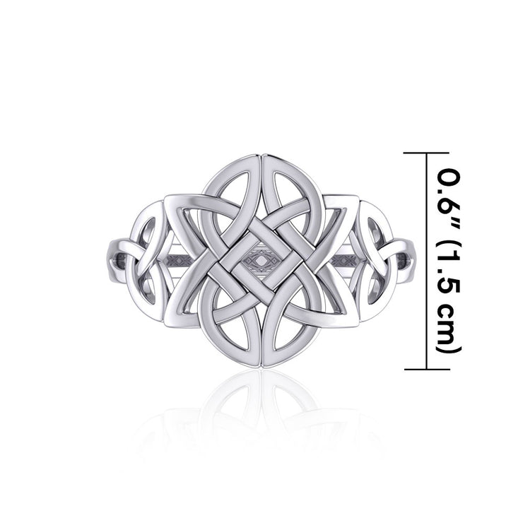 Celtic Knotwork Sterling Silver Ring TR667 Ring