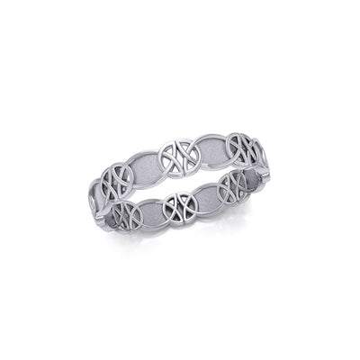 Celtic Knotwork Sterling Silver Ring TR676