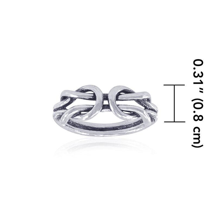 Celtic Knot Work Sterling Silver Ring TR722 Ring