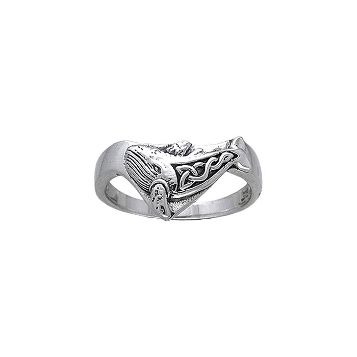 Celtic Knot Whale Ring TRI035