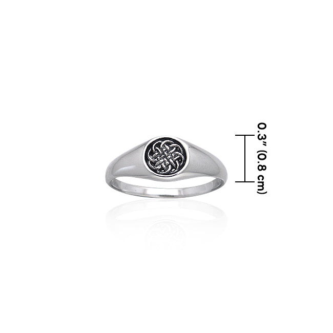 Celtic Knotwork Sterling Silver Toe Ring TRI066