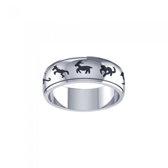 Chinese Astrology Silver Ring TRI102